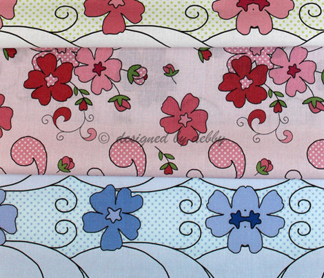 Floral panel in pink
