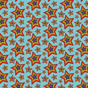 Retro Rainbow Star Pattern
