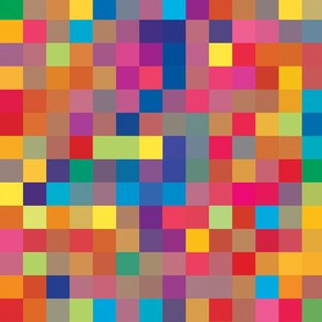 Rainbow Pixel Pattern