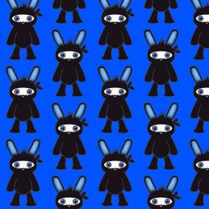 Blue Ninja Bunny Pattern