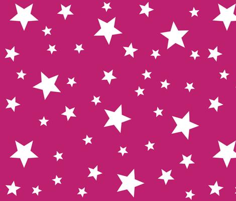 Pink star pattern fabric hippygiftshop spoonflower for Star design fabric