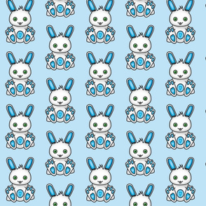 Kawaii Blue Bunny Pattern