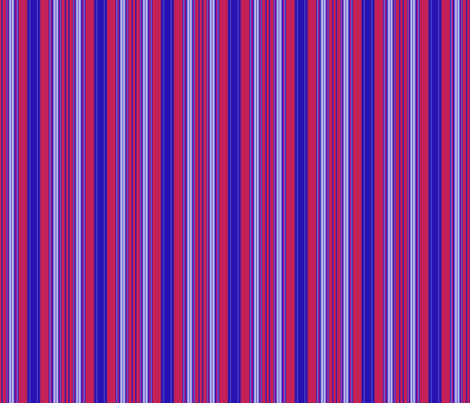 Berry Red Blue and White Stripe