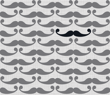 Mustache Pattern fabric by juliesfabrics on Spoonflower - custom fabric