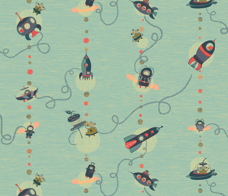 roadtrip to mars fabric by ispy on Spoonflower - custom fabric