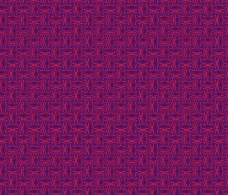 Berry Red and Blue Basket Weave Ovals
