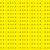 Math Symbols Yellow