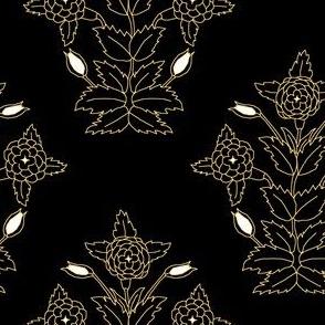 Ancient Carpet Flowers II.