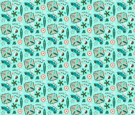 retro_surf fabric by julistyle on Spoonflower - custom fabric