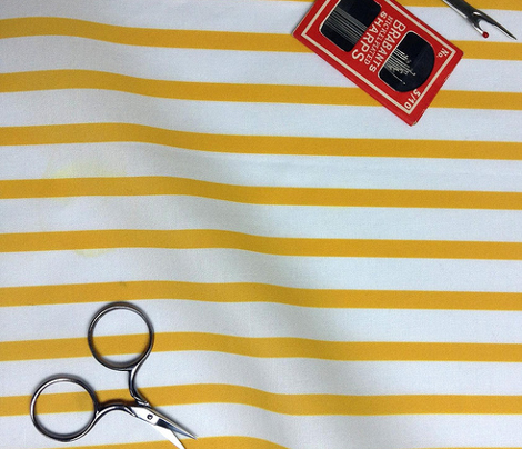 Sailor Stripes Yellow on White