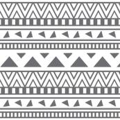 grey and white aztec print