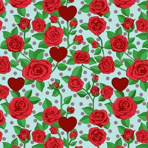Red Rose & hearts/ Valentina Rouge