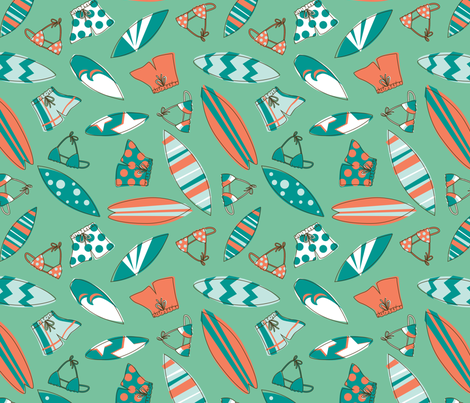 Retro Surf fabric by electrogiraffe on Spoonflower - custom fabric