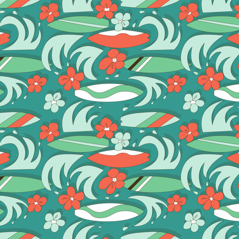 Surfboard Summer fabric by karapeters on Spoonflower - custom fabric