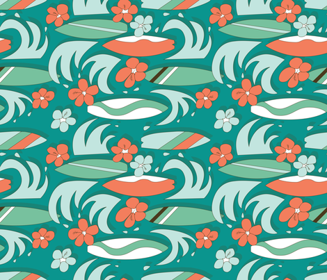 Surfboard Summer fabric by karapeters on Spoonflower - custom fabric