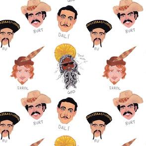 mustachioed