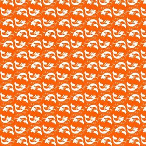 Mermaid Starfish Waves Orange