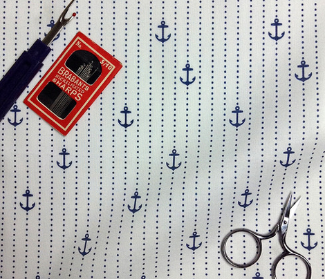 Sailor Anchors Navy on White