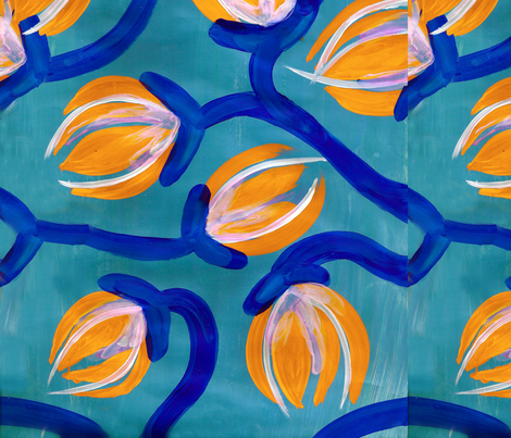 Sleeping in Shade fabric by emmabrereton on Spoonflower - custom fabric