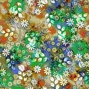 Vintage style floral