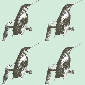 Hummingbird Blue by Linda C. Miller