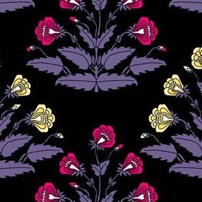 Ancient Carpet Flowers Modern Colors V