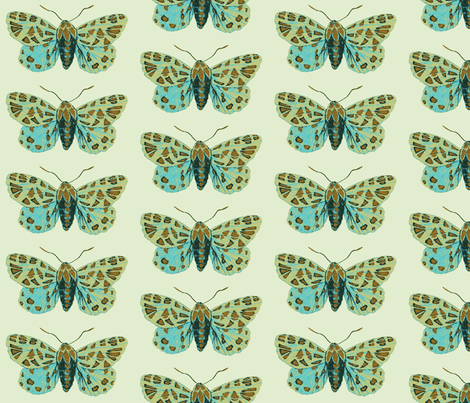 Small Tiger Moth Sweetfern fabric by gollybard on Spoonflower - custom fabric