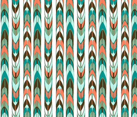 Retro Surfer Stripe fabric by gypsymothdesign on Spoonflower - custom fabric