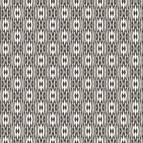 Tribal Drumbeats -- in taupe on white