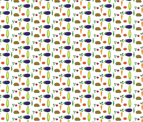 Vegetable Garden fabric by eyeletsage on Spoonflower - custom fabric
