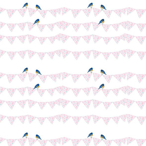 Bunting and Bluebirds