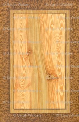 Fir Tree Wood Panel  ~ Trompe l'Oeil
