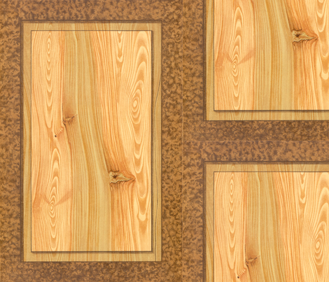 Fir Tree Wood Panel  ~ Trompe l'Oeil fabric by peacoquettedesigns on Spoonflower - custom fabric