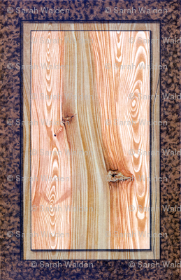 Fir Tree Wood Panel ~ Bright  ~ Trompe l'Oeil