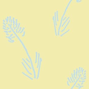 Sky Blue Wheat on Butter Yellow