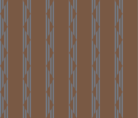 Brown and Blue Gray Triangle Stripes Large