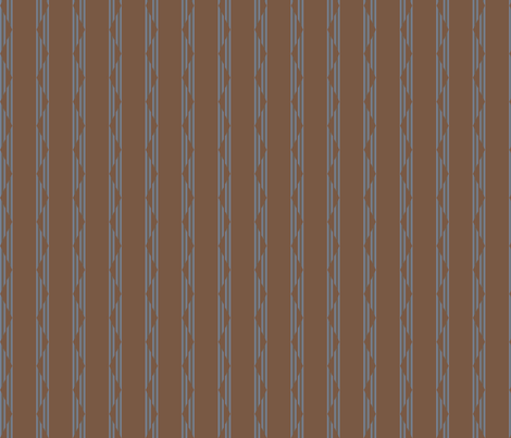 Brown and Blue Gray Triangle Stripes Small