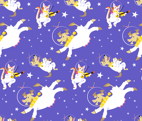 Cosmic Capers fabric by moirarae on Spoonflower - custom fabric
