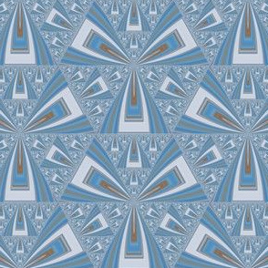 Blue Gray Triangles Geometric