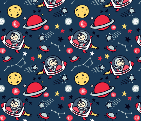 Cosmic Voyage fabric by kiaramcgruder on Spoonflower - custom fabric