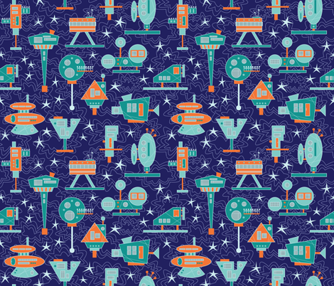 Alien Architecture fabric by brendazapotosky on Spoonflower - custom fabric
