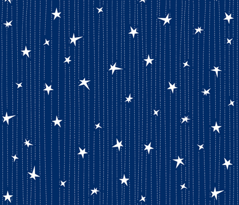 Stars & Stitches fabric by bluebirdworkshop on Spoonflower - custom fabric