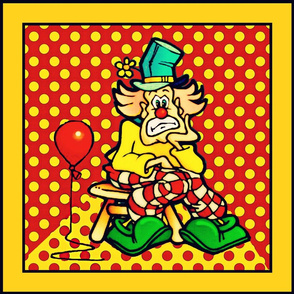 A clown and his balloon