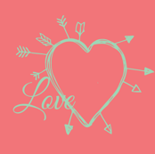 love heart coral