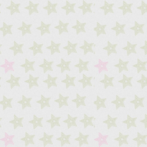 green & pink stars