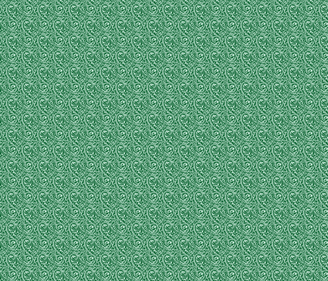 Leafy Green Repeat (dark) fabric by studiofibonacci on Spoonflower - custom fabric