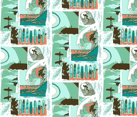 Vintage Soul Surfer fabric by walkwithmagistudio on Spoonflower - custom fabric
