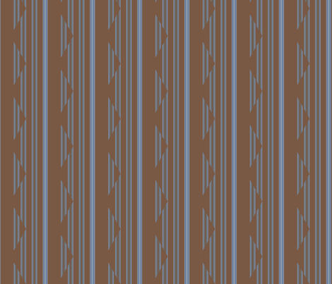 Brown and Blue Gray Triangle Stripe Style 2