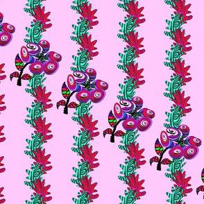 Zen Flora on Pink..