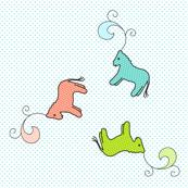 Three fancy horses